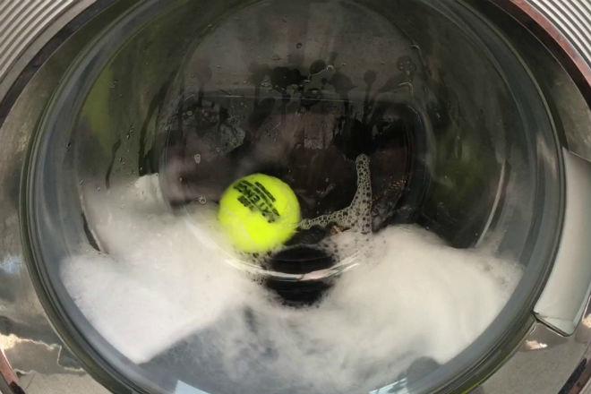 Стираем пуховик с помощью теннисных мячей, чтобы не испортился Идеи