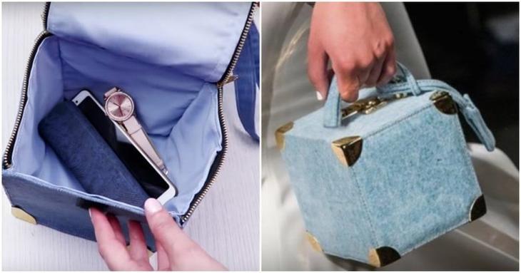 Трендовая сумочка из старых джинсов