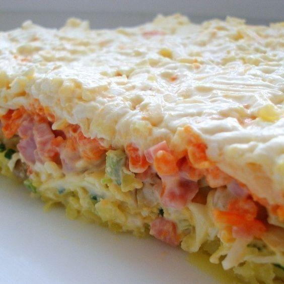 Салат -Нежность- с курицей и огурцом: рецепт с фото