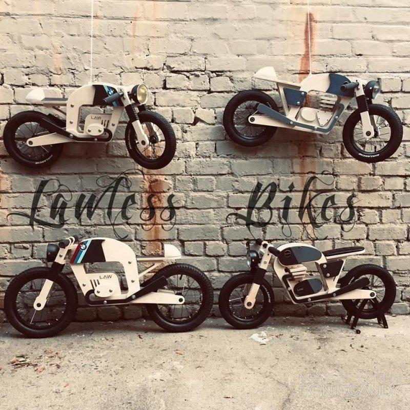 Lawless Bikes: маленькие деревянные детские мотоциклы