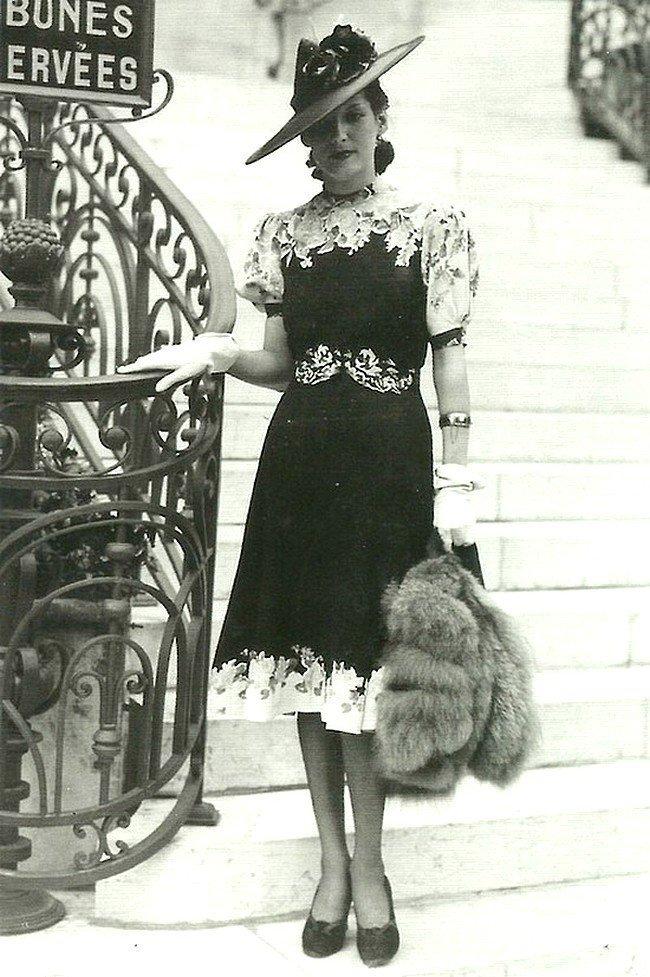 Парижанка 1939 год Весь Мир в объективе, ретро, старые фото
