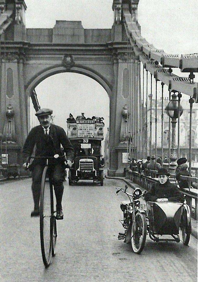 Мост Хаммерсмит в Лондоне, 1900. Весь Мир в объективе, ретро, старые фото