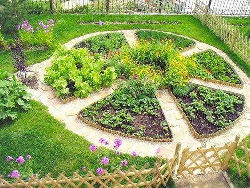 Декоративный огород: как сделать красивые грядки на участке