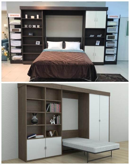 Варианты моделей шкафов-кроватей. | Фото: pinterest.com.