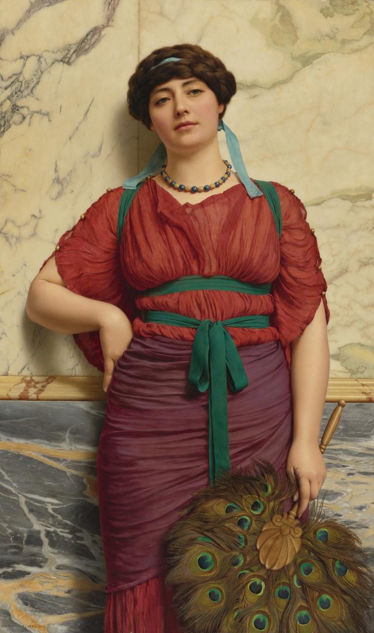 1921_Еврипила (царица амазонок) (124.5 х 75 см) (ч.с.)
