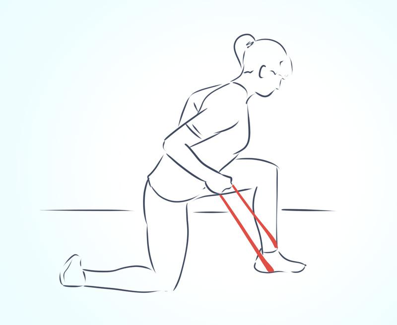 Как выполнять упражнения с фитнес-резинкой