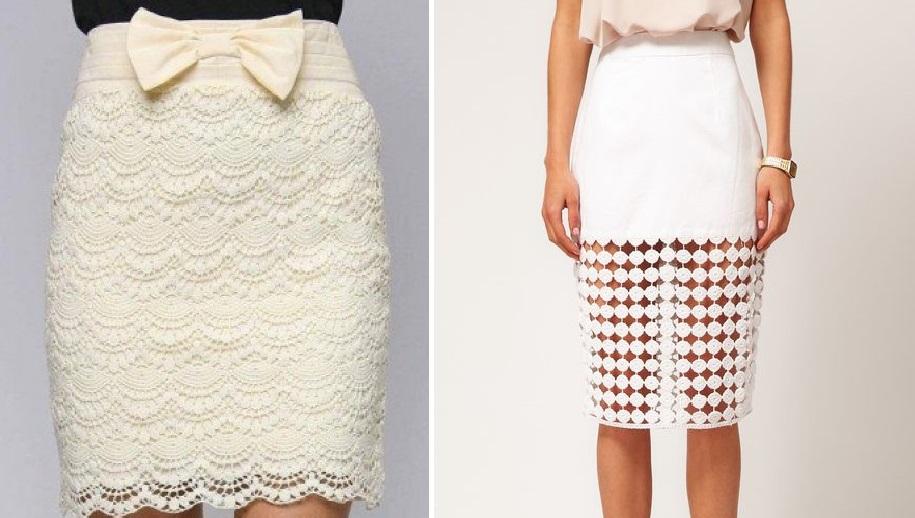 Модная кружевная юбка: схемы для вязания