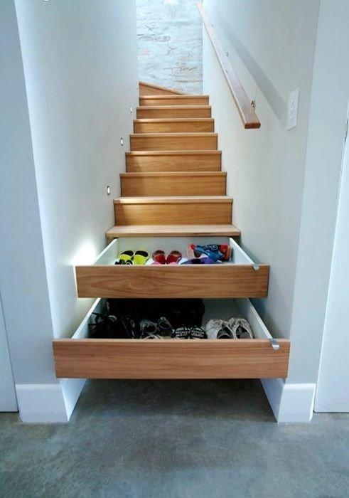 Кто собрался делать лестницу, подумайте об этой идее Фабрика идей, гениально, дизайн, дом, идеи, ремонт