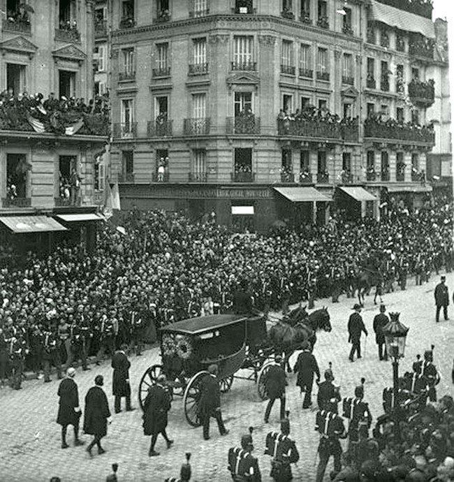 Похороны Виктора Гюго. 1885 год Весь Мир в объективе, ретро, старые фото