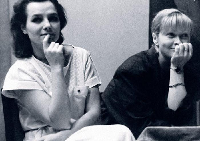 Елена Мольченко и Наталья Гундарева на встрече со зрителями. Пермь, 1986   Фото: 7days.ru