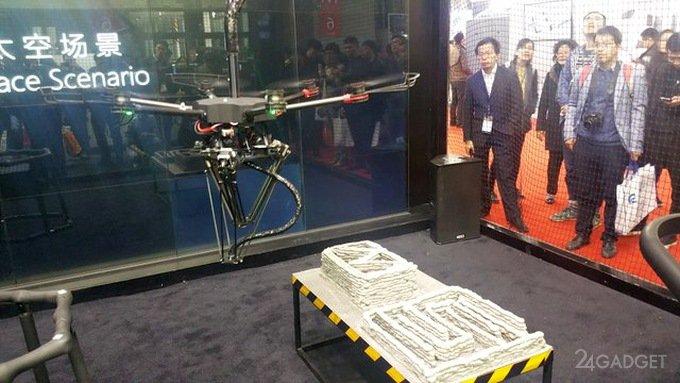 Летающий 3D-принтер заменит рабочих на стройке