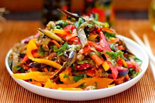 Баклажанный салат по-корейски