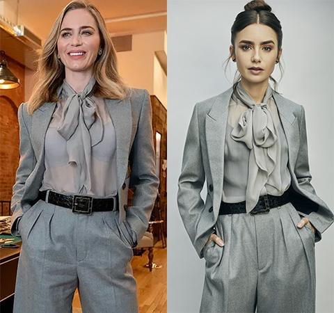Модная битва: Эмили Блант против Лили Коллинз