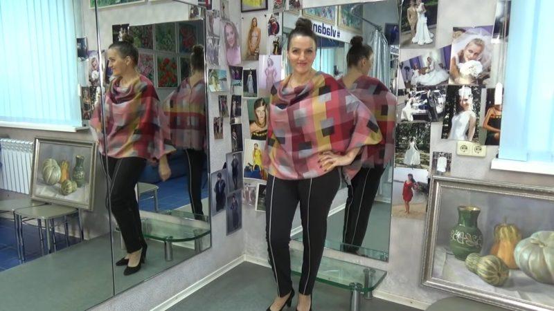 Как сшить стильный блузон оверсайз из палантина гардероб,красота,мода,мода и красота,модные образы,модные сеты,модные советы,модные тенденции,одежда и аксессуары,стиль,стиль жизни,уличная мода,фигура