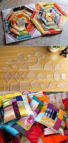 Лоскутное шитье красиво и легко для начинающих: схемы и шаблоны