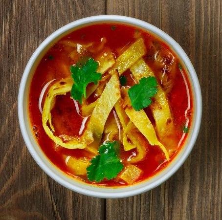 Мексиканская кухня: суп из тортильи