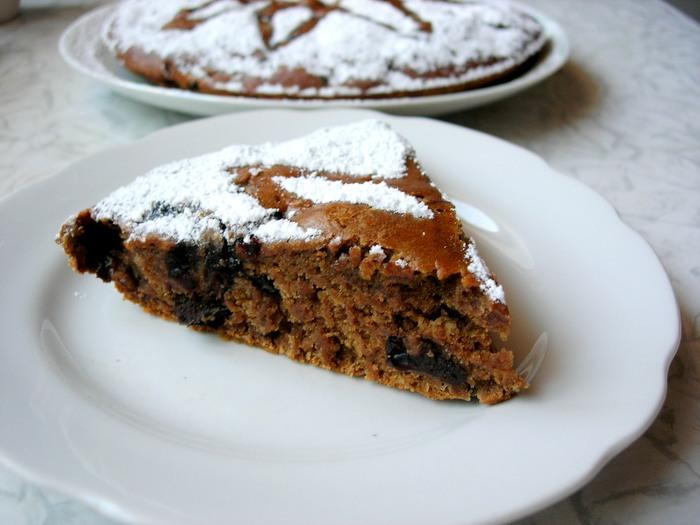 Очень простой постный пирог с кофе и черносливом рецепт, еда, кулинария, пирог, постное меню, постная выпечка, видео, постный пирог