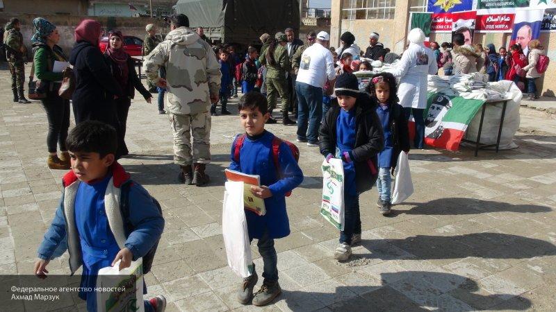 РФ оказала гуманитарную помощь жителям провинции Даръа