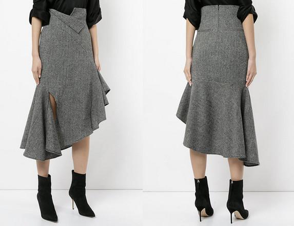 Роскошная юбка с цельнокроенным воланом...