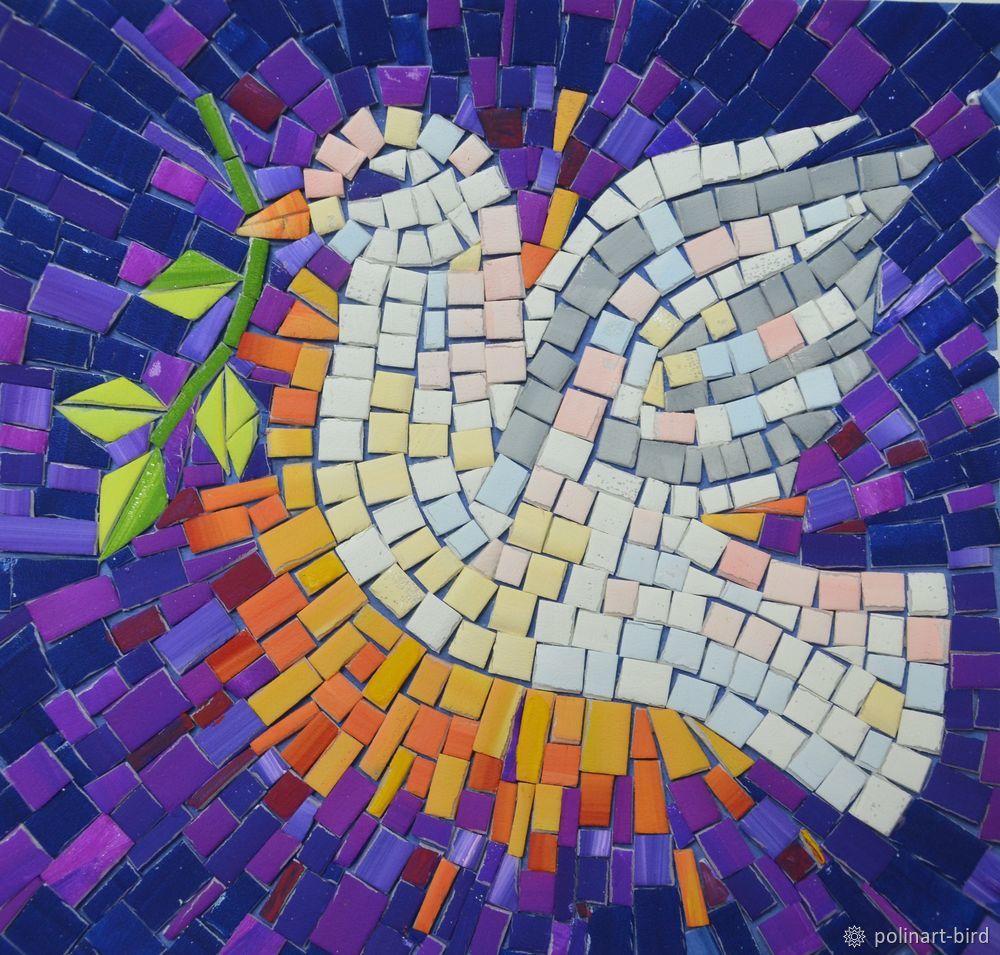 Картинка с мозаикой, открытка свадьба