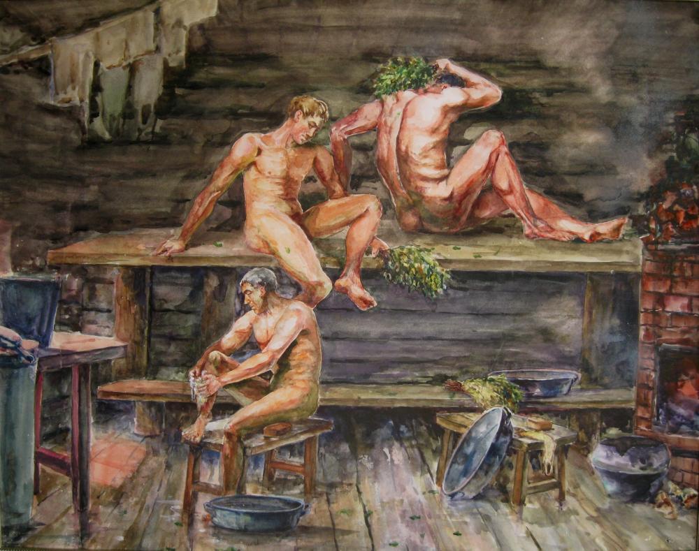 Общая баня в старину видео секс — pic 13