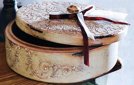 Объемный декор шкатулки