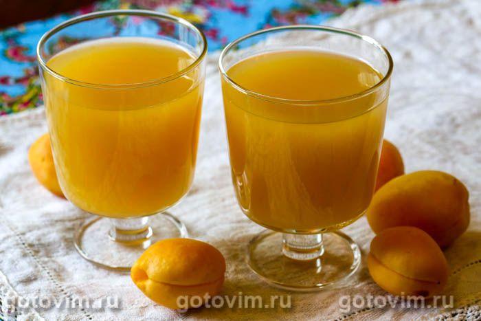 Кисель из абрикосов. Фотография рецепта