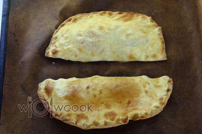 Закрытая пицца кальцоне, рецепт с фото