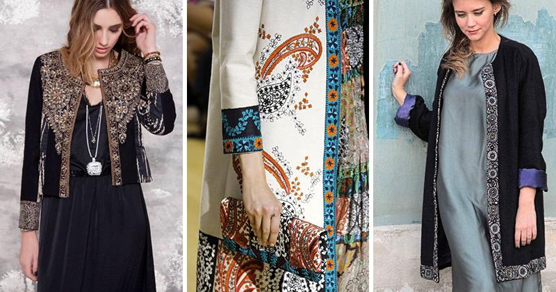 Как использовать декоративную тесьму в отделке пальто и жакетов