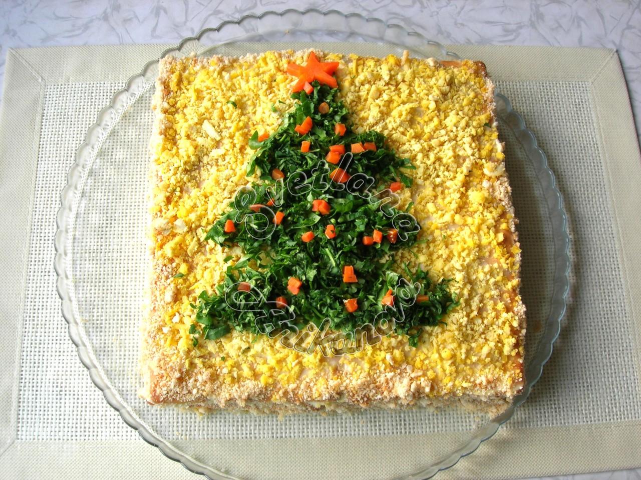 Закусочный торт «ЗАСТОЛЬНЫЙ».- идеальная закуска на новогодний стол!
