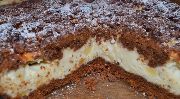 Шоколадно-творожный пирог с …