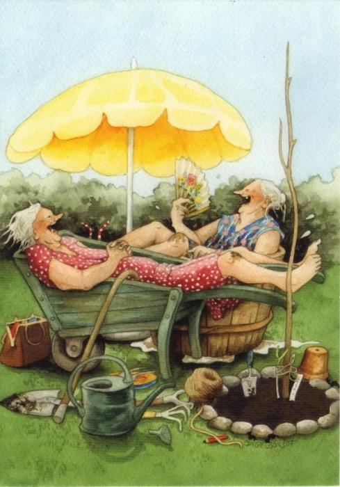 «Старушки-хохотушки» от Инге Лоок.