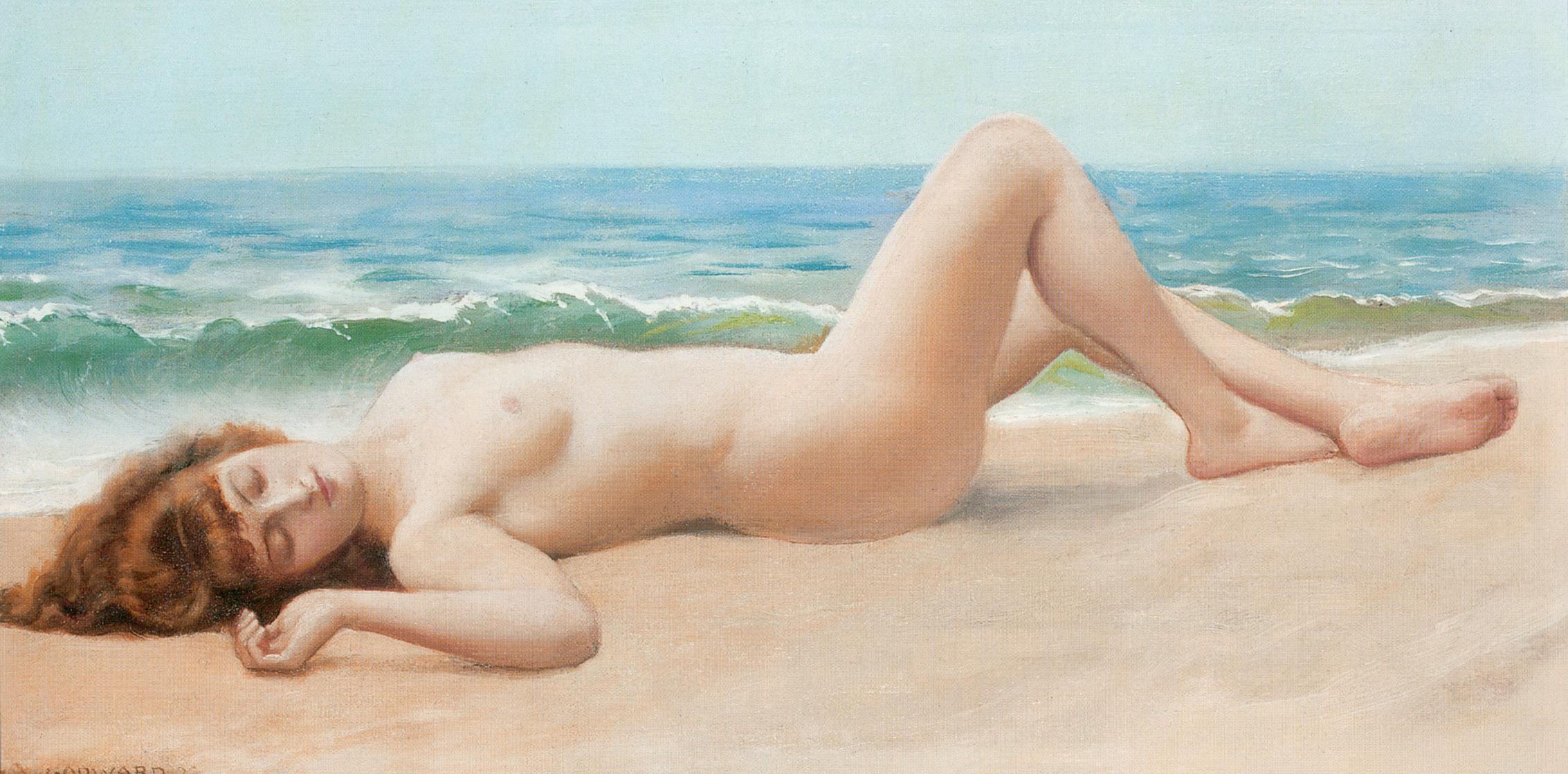 1922_Обнажённая на песке
