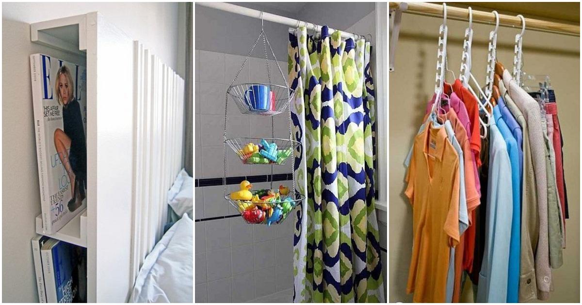 Гениальные идеи для хранения вещей в маленькой квартире