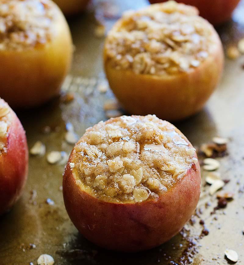 яблоки с овсянкой