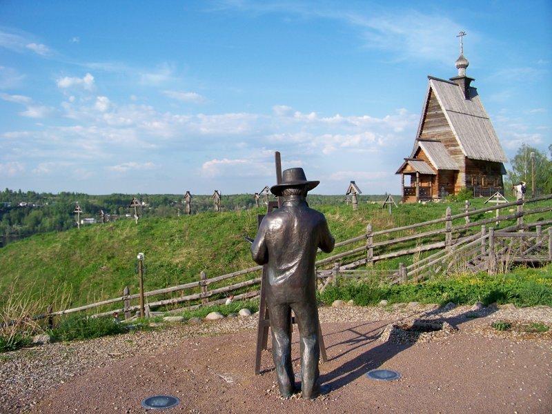 Художник Левитан запечатлел эту церквушку на своей знаменитой картине Города России, Плёс, ивановская область, красивые города, пейзажи, путешествия, россия