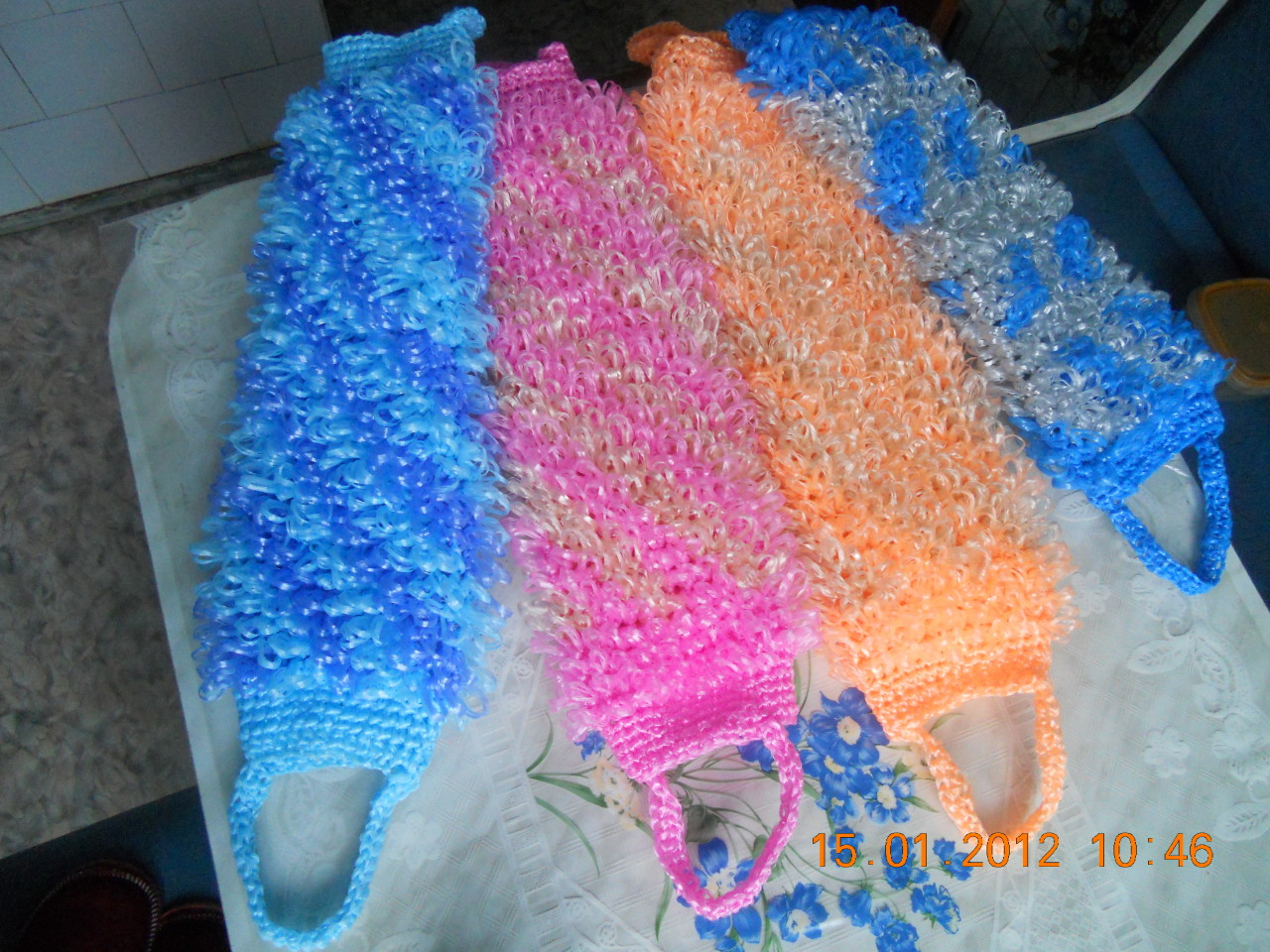Вязание мочалок крючком с вытянутыми петлями Уют и тепло 39