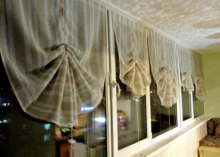 занавески на балкон своими руками фото знаю, как