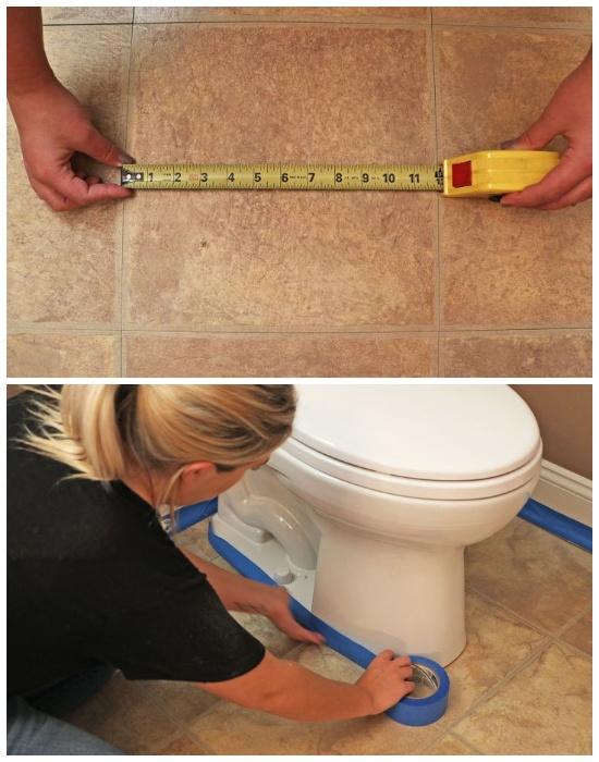Как хозяйка преобразила безликую и однообразную плитку в туалете за сущие копейки