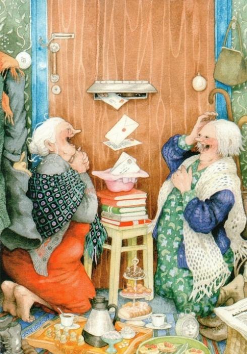 «Старушки-веселушки» от Инге Лоок.