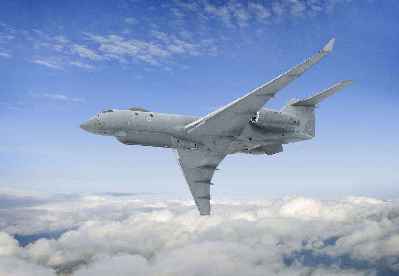 Самолёт ВВС Британии замечен…