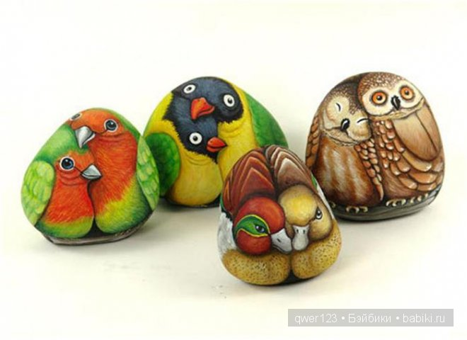 Разрисованные камни Эрнестины Галлиной (Ernestina Gallina)