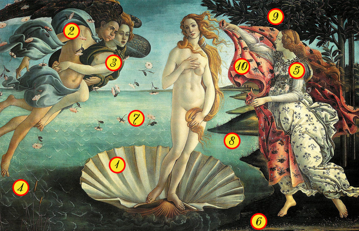 Загадки картины «Рождение Венеры» Ботичелли