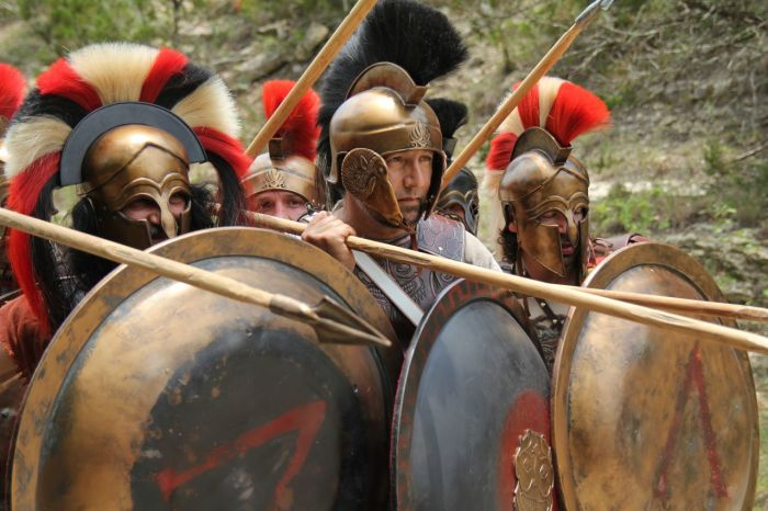 История гребня на шлеме спартанцев