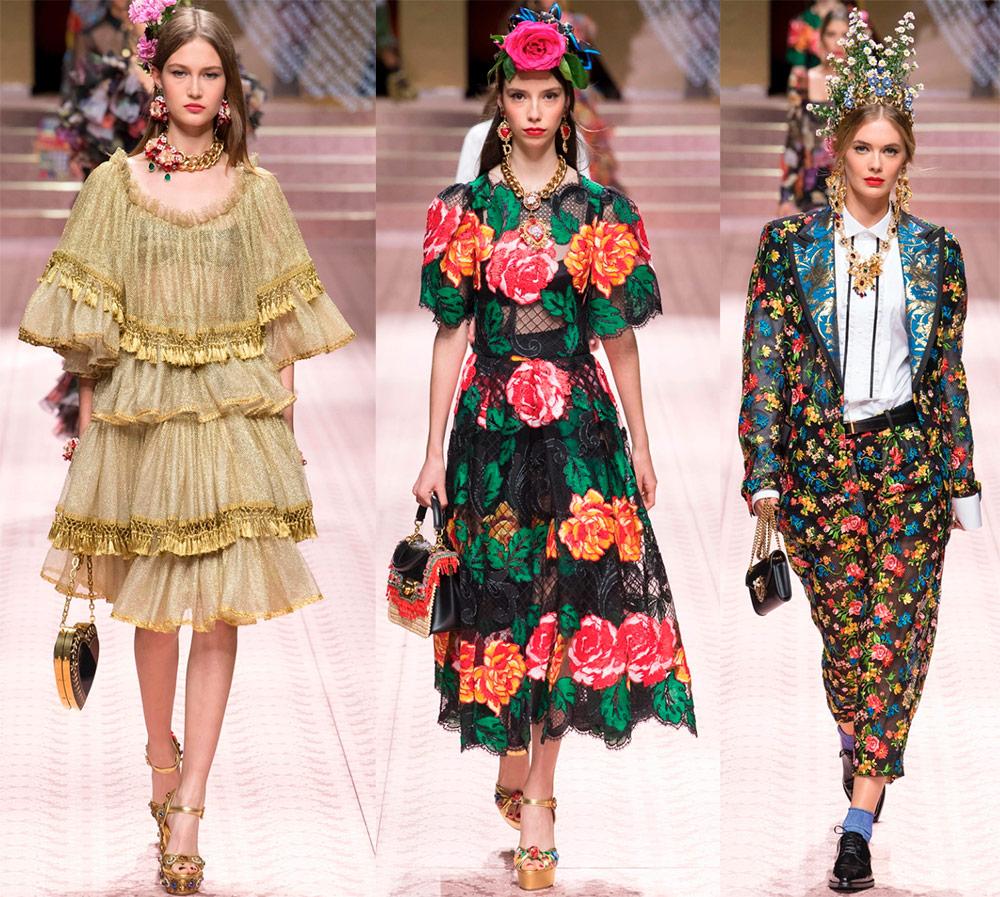 Модная женская одежда и аксессуары весна-лето 2019 Dolce & Gabbana