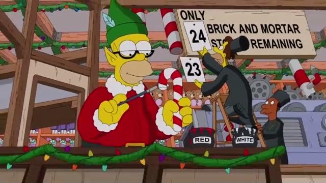 Рождественская заставка Симпсонов (29 сезон)