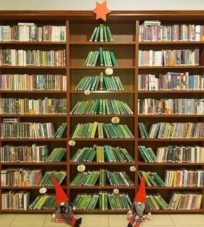 «Елка» в публичной библиотеке красота, перфекционизм, симметрия