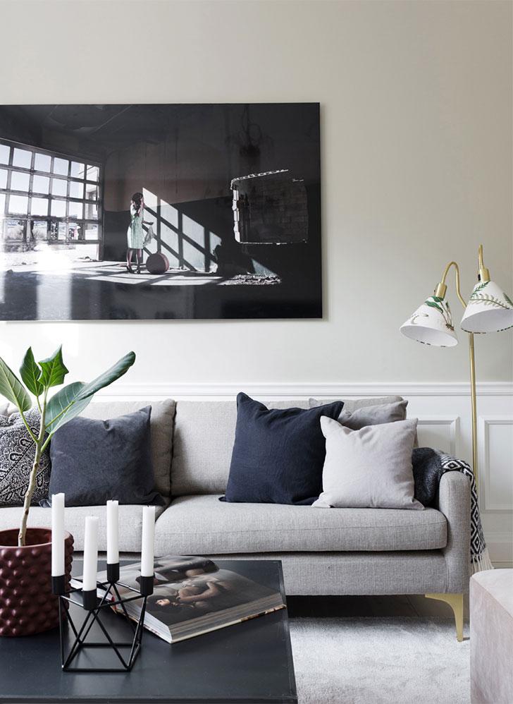Приятные пастельные интерьеры в скандинавской квартире (73 кв. м)