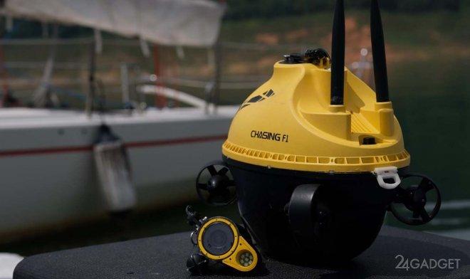 Дрон Chasing F1 позволит рыбакам отслеживать добычу под водой будущее,видео,гаджеты,наука,приборы,роботы,техника,технологии,электроника