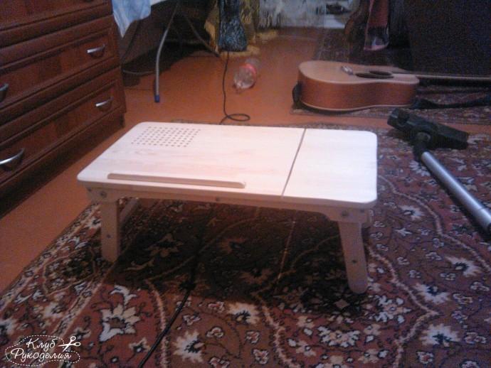 Как сделать столик для ноутбука для дома и дачи,поделки